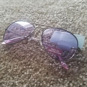 Target Aviators With Purple Lenses NWT